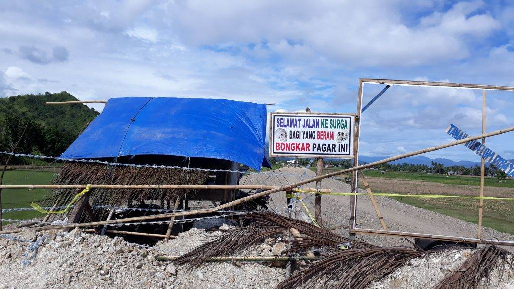 Pemilik Tanah Blokir Jalan Ring Road Kab. Gorontalo, Ganti Rugi Tidak Sesuai Dengan Undang-undang No. 02 Thn 2012 & Perpres 71 Thn 2012