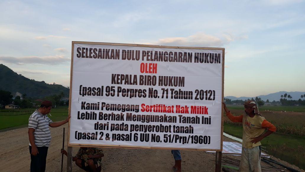 Perjuangan Keluarga Kudu – Usman Atas  Pembebasan Tanah Mereka Tidak Sesuai UU No. 2 Pasal 35 Thn 2012 – diperkuat dengan Kepres No. 71 Thn 2012 Belum Berakhir
