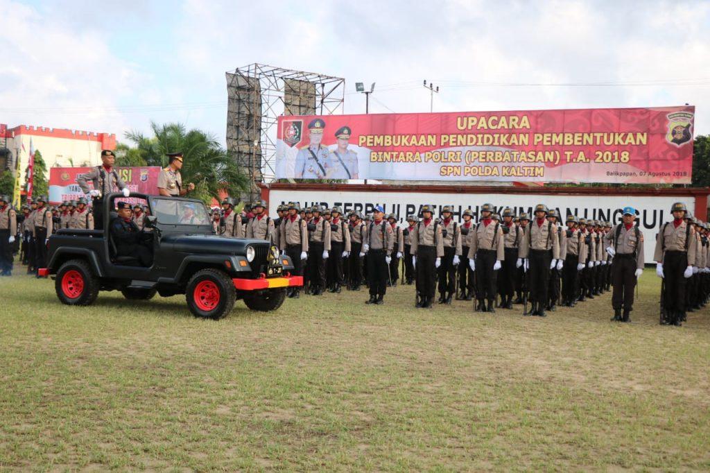 Kapolda Kaltim Pimpin Upacara Pembukaan Pendidikan Pembentukan Bintara Polri (Perbatasan) TA. 2018/2019