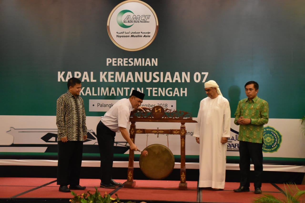 Peresmian Program Kapal Kemanusiaan 07 Oleh Pemerintah Provinsi Kalimantan Tengah dan AMCF