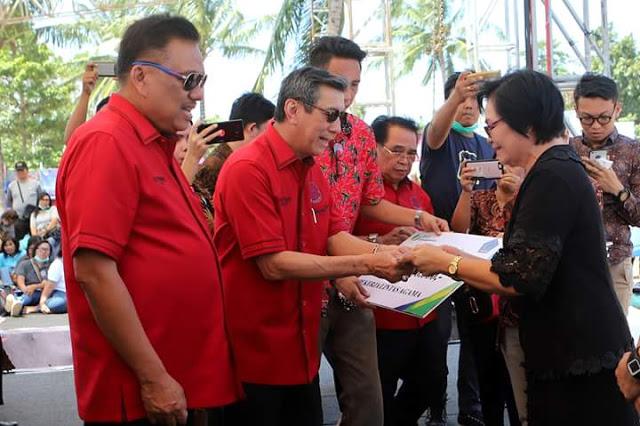 Menteri Yasonna Laoly Hadiri HUT Ke-84 GMIM Bersinode, Gubernur Olly Dilantik Jadi Ketua FK-PKB PGI Periode 2018-2023
