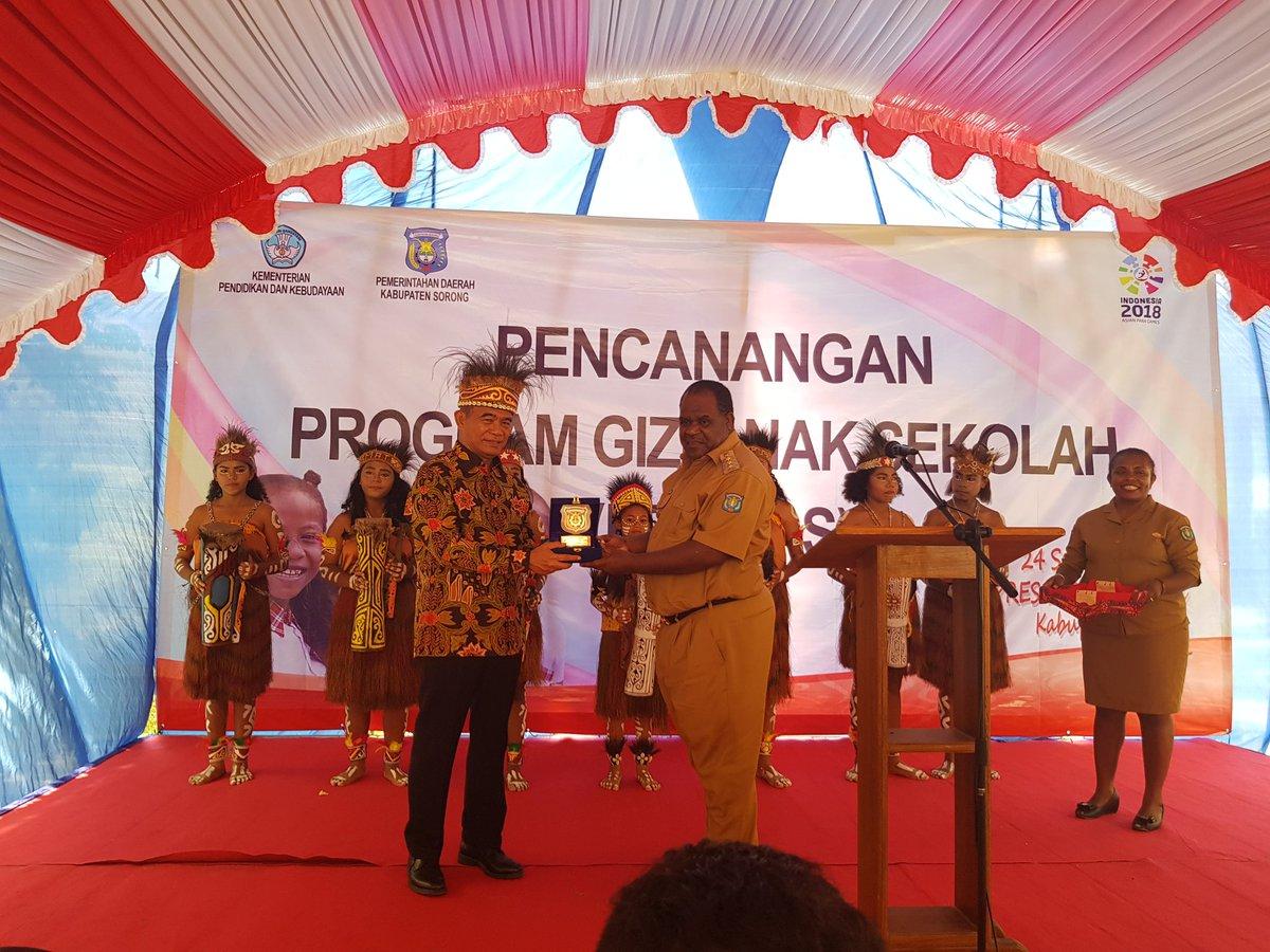 Menteri Pendidikan dan Kebudayaan  Luncurkan Program Gizi Anak Sekolah (Progras) Untuk Kab. Sorong