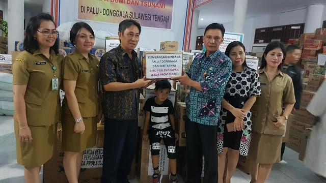 Bantuan Pemprov Sulut Untuk Bencana Sulawesi Tengah Membludak, Total 50 Ton Siap Dikirim Lewat Darat, Laut dan Udara