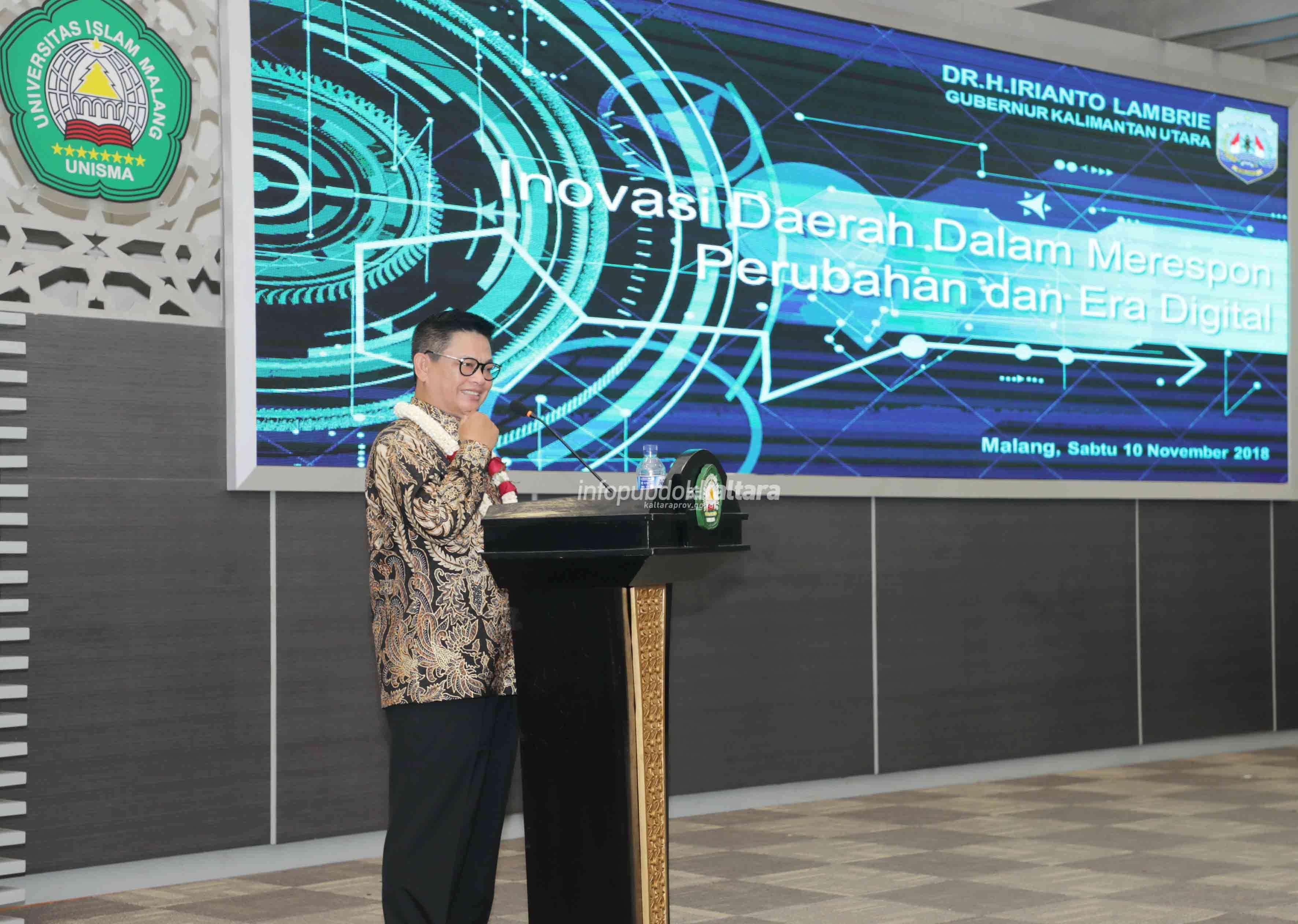 Beri Kuliah Tamu, Gubernur (Kaltara) Dr H Irianto Lambrie Ajak Mahasiswa Berinovasi