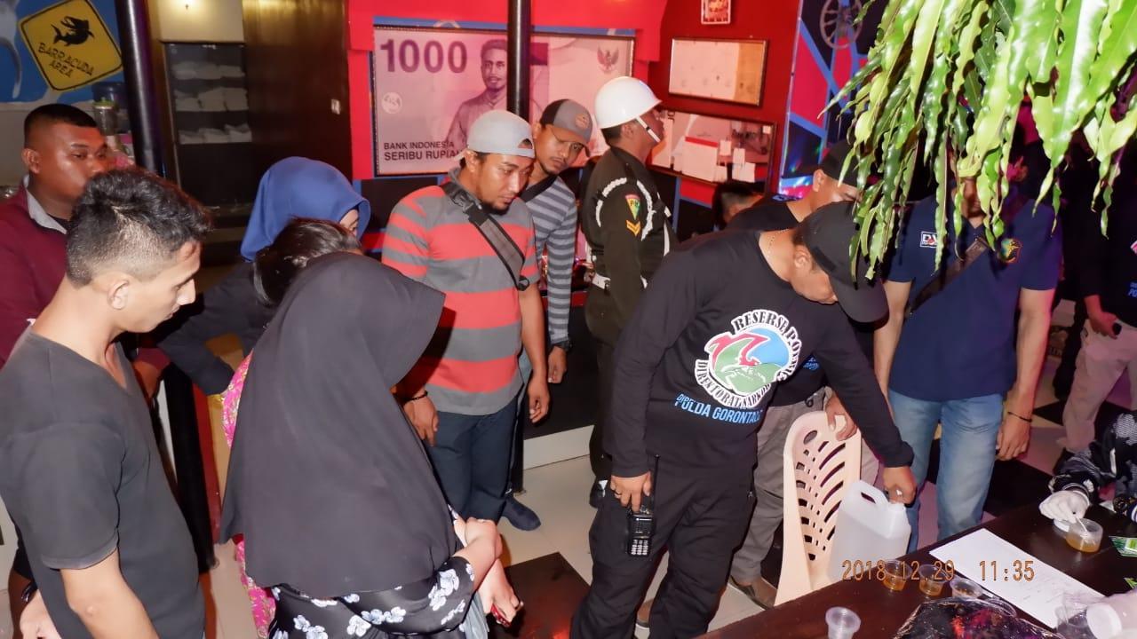 Antisipasi Gangguan Kamtibmas Jelang Tahun Baru, Dit Resnarkoba Polda Gorontalo Razia Tempat Hiburan.