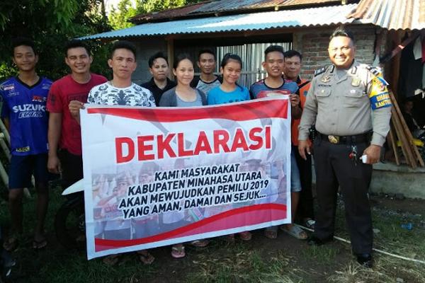 Semangat Wujudkan Pemilu Damai di Kecamatan Kema Kabupaten Minahasa Utara