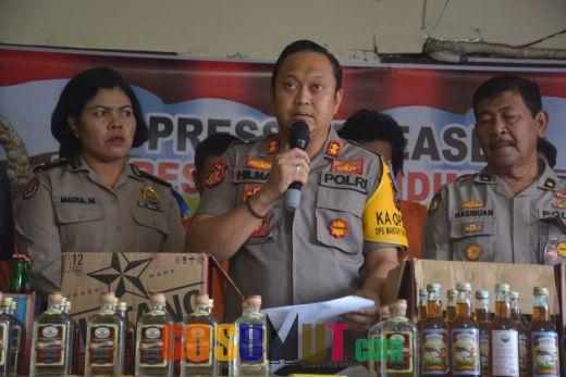 Konpers Akhir Tahun, Penanganan Kasus Kriminal dan Narkoba Tahun 2018 Meningkat di Padangsidimpuan