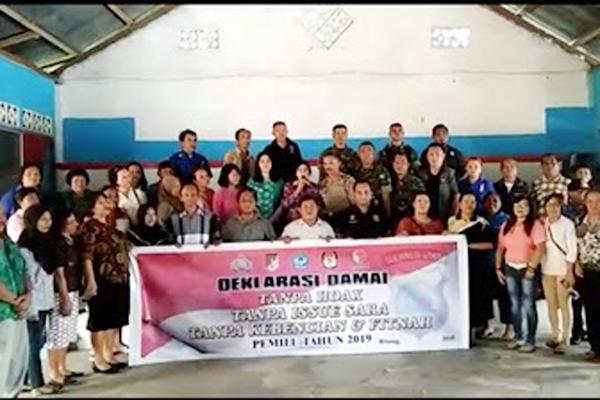 Kecamatan Aertembaga Kota Bitung Deklarasikan Pemilu Damai 2019