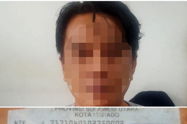 Terima Kiriman Sabu dari Makassar, Lelaki Inisial SFT Diamankan Tim Opsnal Ditresnarkoba Polda Sulut