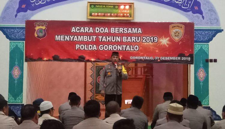 """Polda Gorontalo """" Doa Bersama """" Dalam Rangka  Sambut Tahun Baru 2019"""