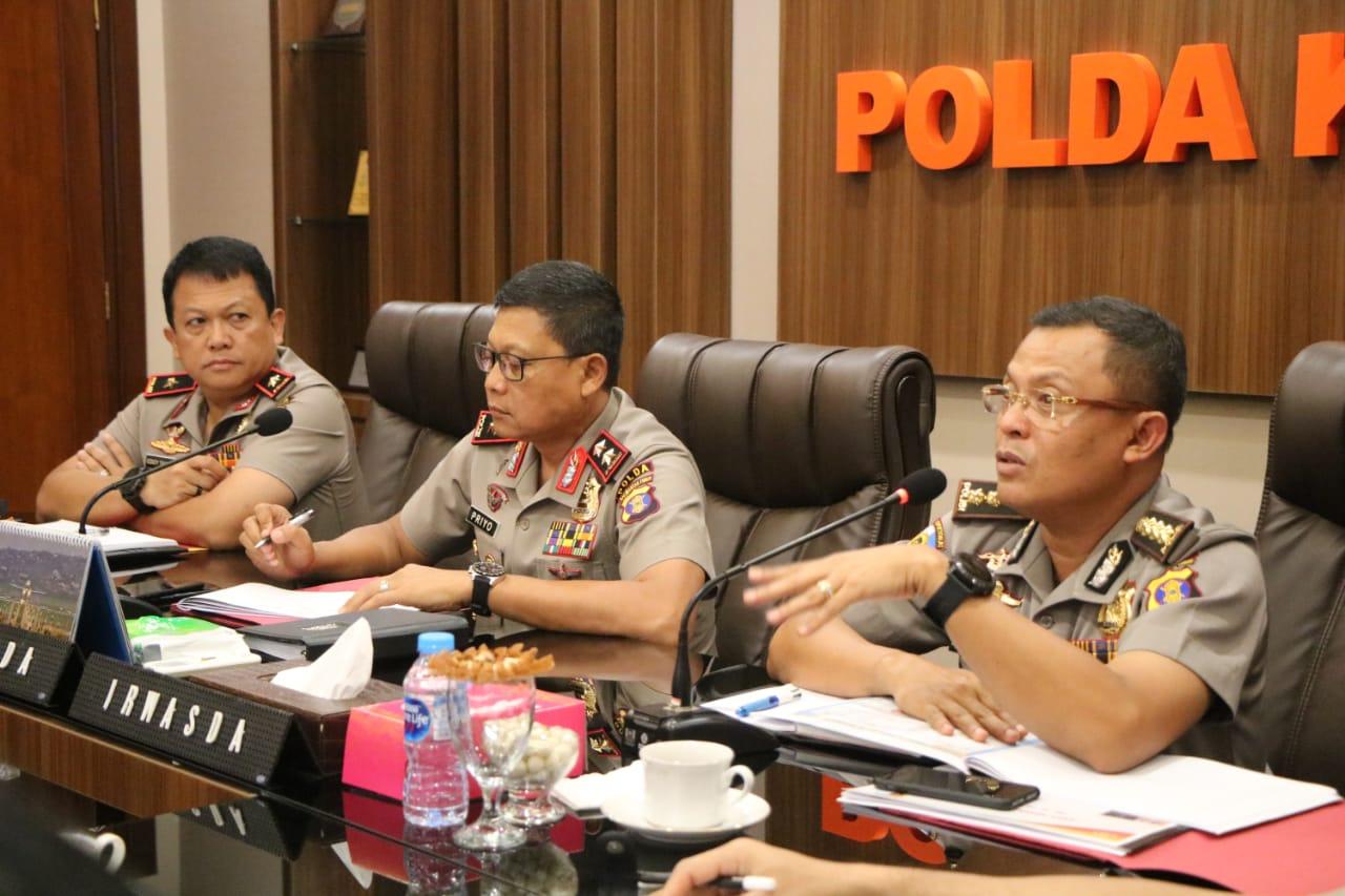 Evaluasi Kinerja Personil, Kapolda Kalimantan Timur (Kaltim) Pimpin Rapat Anev Mingguan