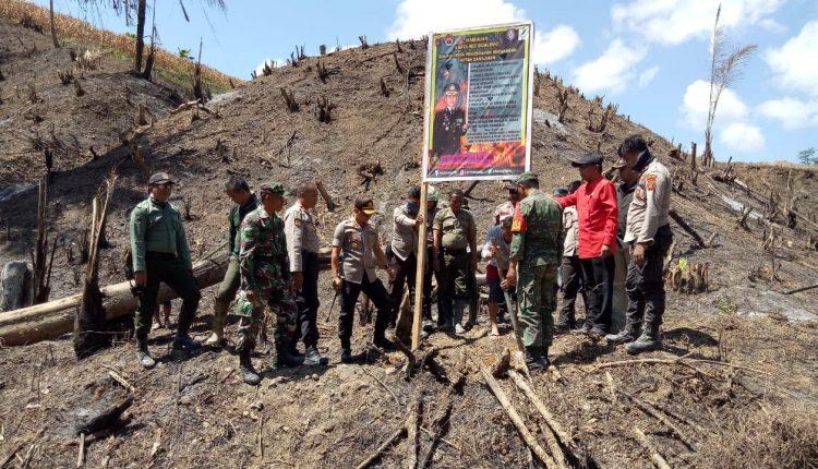 Cegah Karhutla, Polres Boalemo & Dinas Kehutanan Laksanakan Sosialisai Melalui Pemasangan Spanduk Serta Baliho