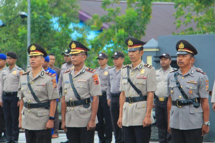 Upacara Serah Terima Jabatan Wakil Kepala (Waka) Polres Asmat & Kasat Sabhara