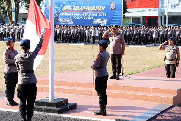 Polwan Polda Sulawesi Utara (Sulut) Gelar Upacara Peringati Hari Jadinya ke-71