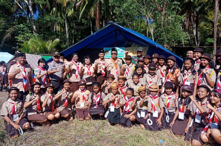 Kapolres Kepulauan Sangihe Hadiri Pembukaan Jambore Pramuka di Tahuna