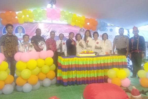 Bhabinkamtibmas Polsek Kauditan Aipda Rahim Surbakti Kawal Perayaan HUT ke-379 Desa Kaasar