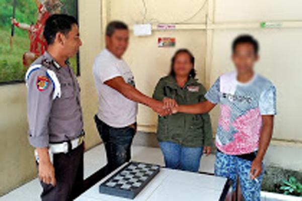 Ganggu Ketentraman Umum, EO (26) alias Ex Pria Kawangkoan Baru Ini Digelandang ke Mapolsek Airmadidi