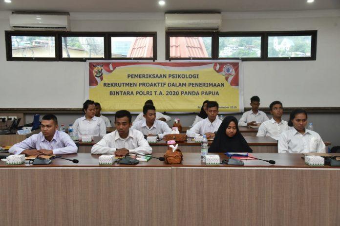 Pemeriksaan Psikologi Pekrutmen Proaktif Penerimaan Bintara Polri T.A 2020 Panitia Daerah Papua
