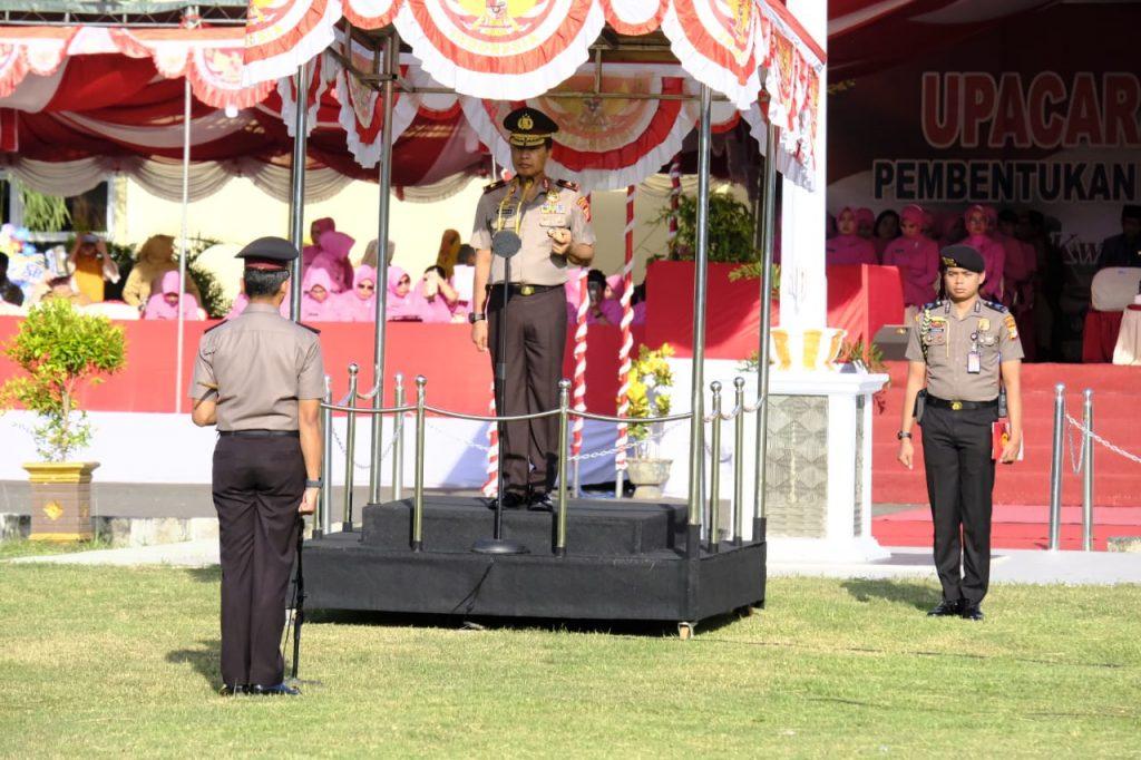 Tingkatkan Pelayanan Ke Masyarakat, Kapolda Gorontalo Drs. Wahyu Widada, M. Phil, Kukuhkan Polres Gorontalo Utara