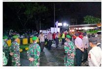 Polres Minut Lakukan Patroli Gabungan Skala Besar Untuk Mencegah Penyebaran Virus Covid-19 di Kecamatan Dimembe & Talawaan