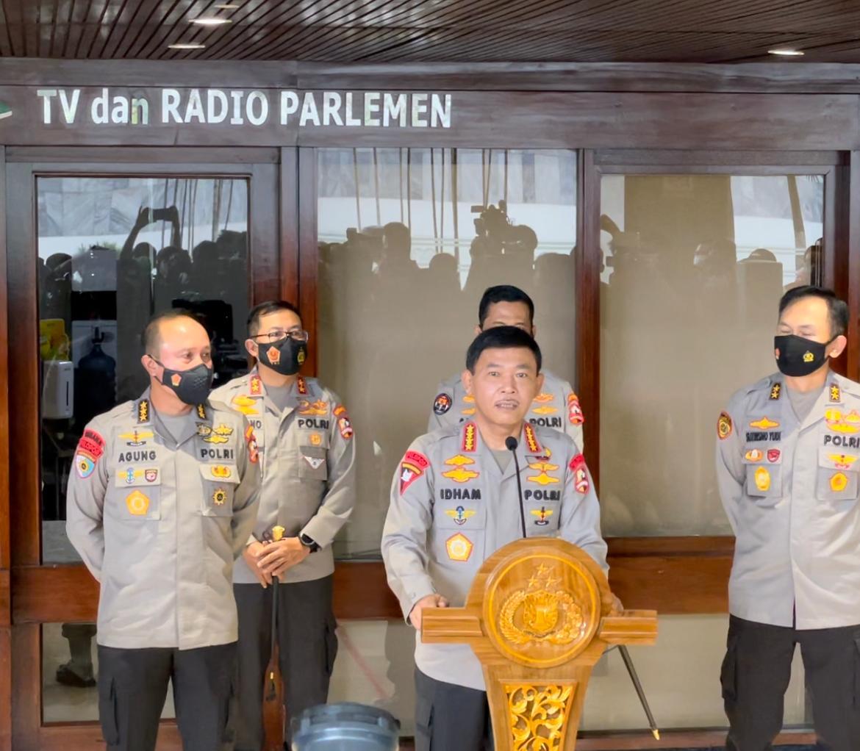 Kapolri Jendral Idham Azis Pastikan Komjen Sigit Dikawal Lintas Angkatan saat Fit and Proper Test