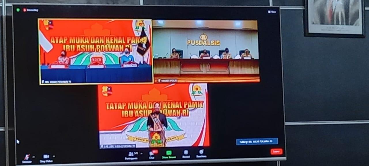 POLWAN POLDA GORONTALO HADIRI TATAP MUKA & KENAL PAMIT IBU ASUH.POLWAN RI SECARA VIRTUAL