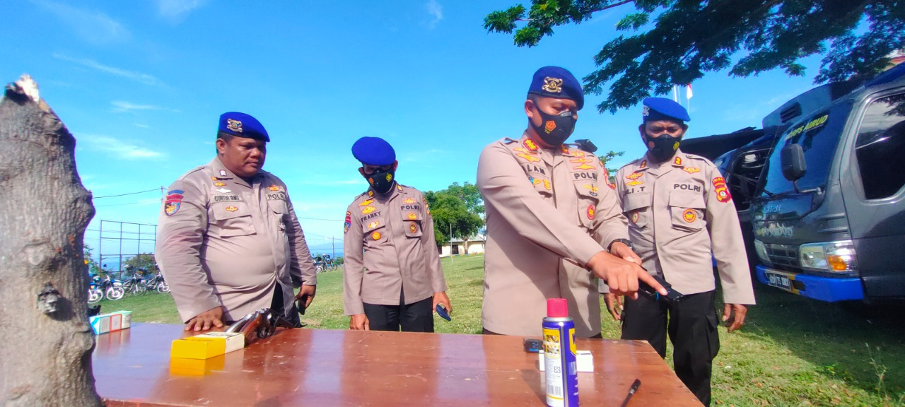 Seminggu Resmi Jabat DIR POLAIRUD POLDA GORONTALO KBP Saiful Alam, S.H., SIK., M.H, Lakukan Supervisi Kejajaran