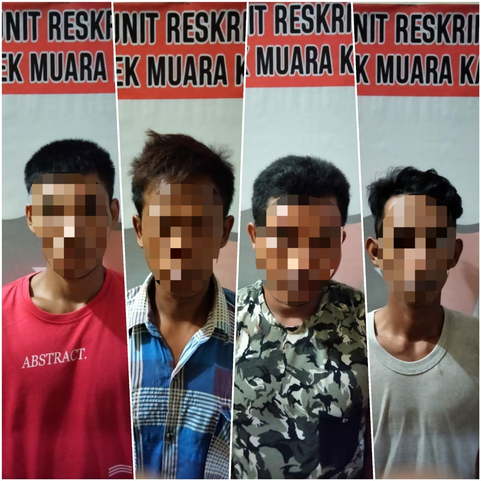 Gerak Cepat, Polsek Muara Kaman Berhasil Amankan 4 Orang Pelaku Penyalahgunaan Narkotika