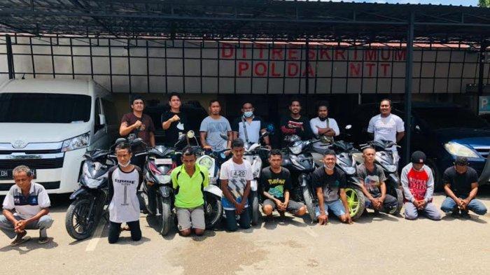 Polda NTT Kembali Amankan Barang Bukti 4 Unit Sepeda Motor Curian