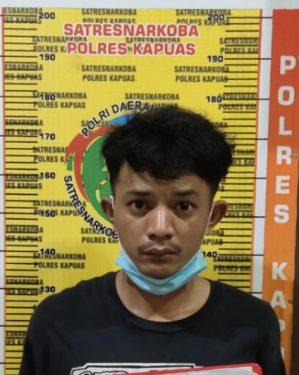 Tertangkap Tangan Bawa Sabu, Pemuda Ini Diamankan Satresnarkoba Polres Kapuas