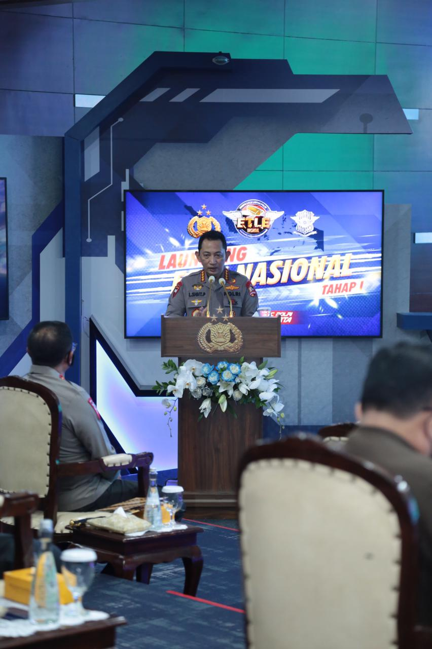 Kapolri Resmi Launching Etle Nasional Tahap 1, 12 Polda Mulai Terapkan Tilang Elektronik