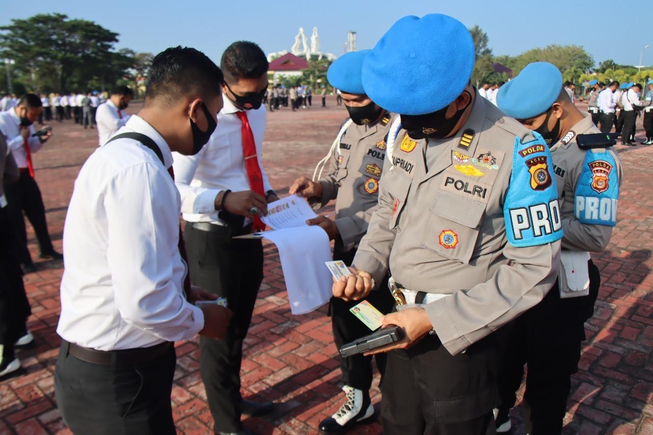 Propam Polda Aceh Periksa Rutin Senjata Api yang Digunakan Personel