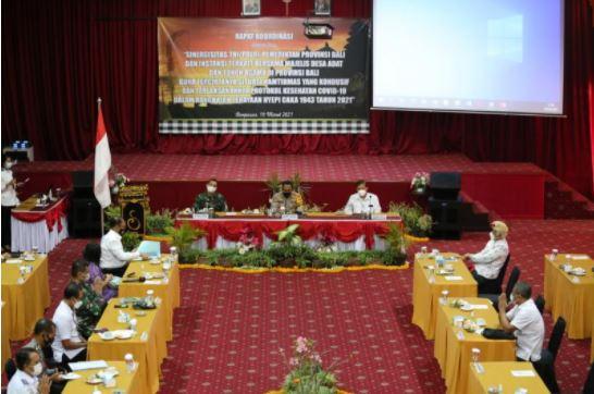 Polda Bali Gelar Rapat Koordinasi Kesiapan Pengamanan Hari Raya Nyepi