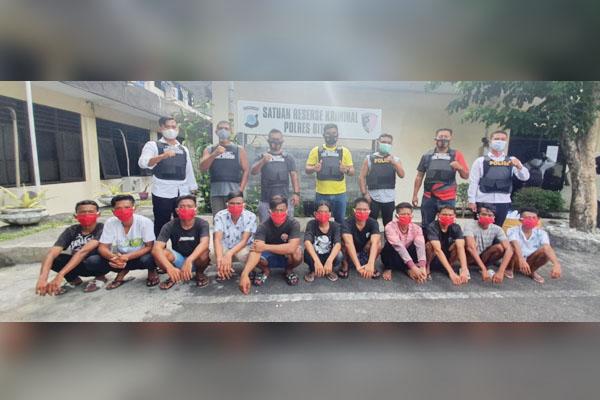 Rakit Ratusan Panah Wayer,11 Remaja Diamankan Tim Resmob Polres Bitung
