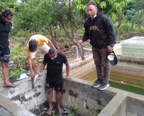 Polda Jateng Beri Pelatihan Ternak Lele Untuk Mahasiswa Asal Papua