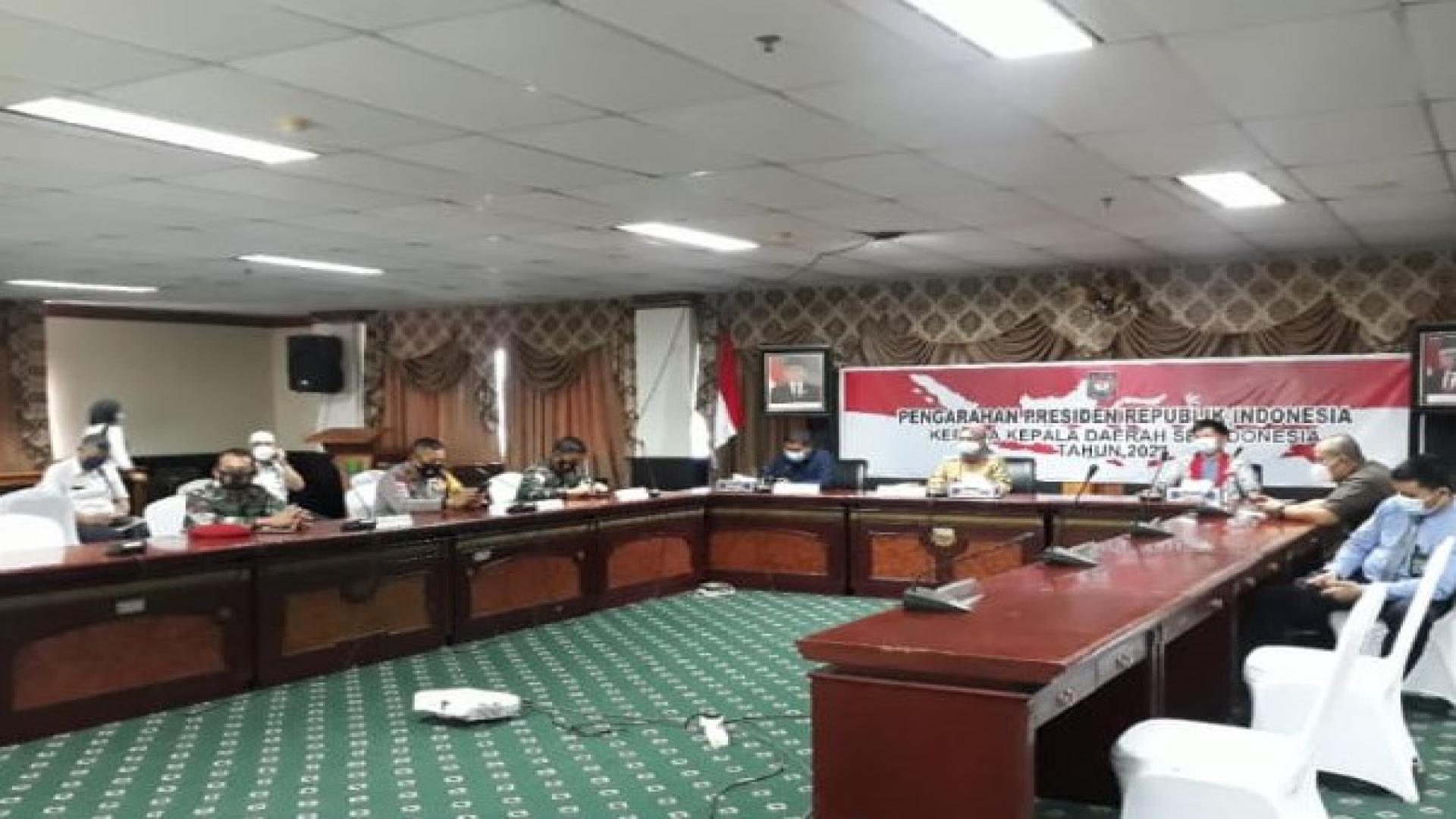 LANAL NUNUKAN IKUTI RAKOR KEPALA DAERAH SELURUH INDONESIA & PENGARAHAN PRESIDEN RI KE KEPALA DAERAH