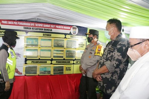 Kapolda Sulut dan Forkopimda Cek Pospam Idul Fitri di Kota Wilayah Manado
