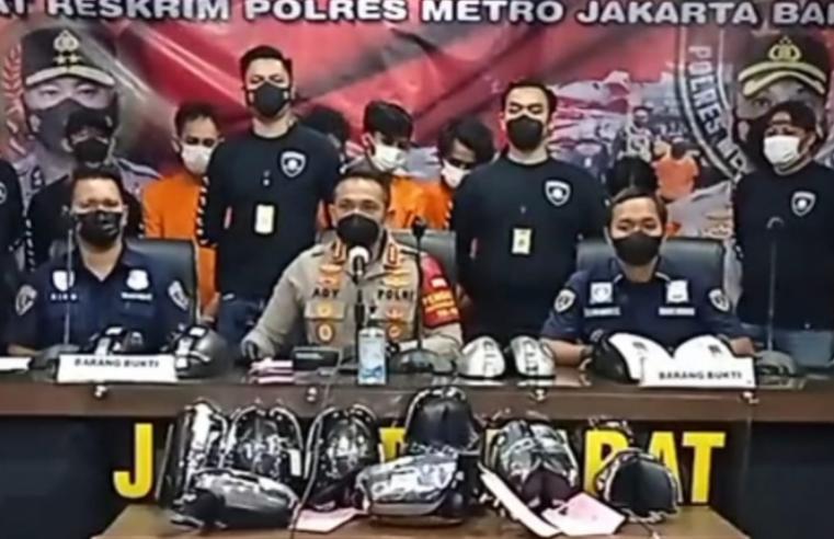 2 Orang dari 10 Pelaku Pencurian Spion Mobil di Jakarta Barat Positif Komsumsi Ganja
