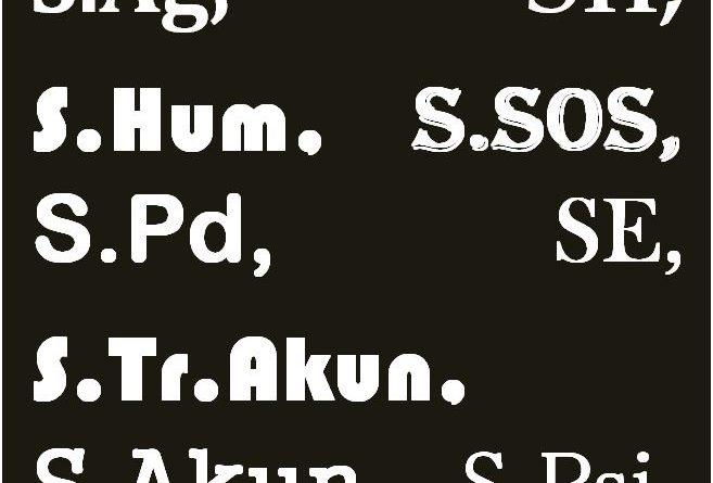 Cara Penulisan Nama dan Gelar Yang Benar Oleh : Nita Moha, S.Pd ( Guru SD )
