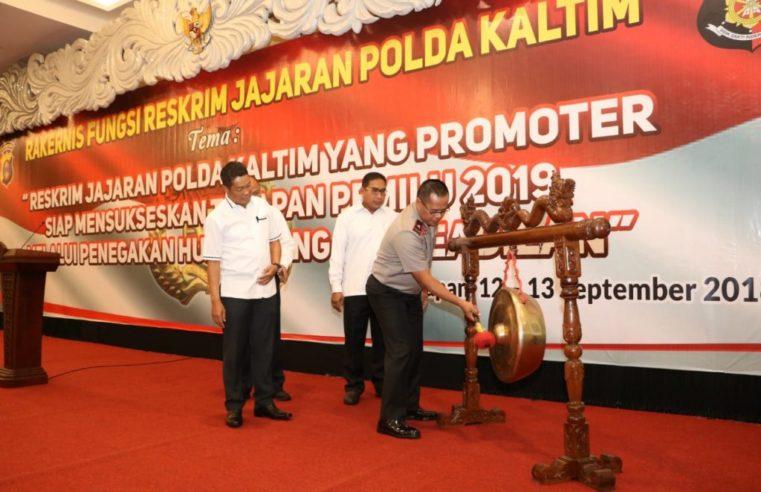 Jelang Pemilu Damai 2019,  Wakil Kapolda Kalimantan Timur Pimpin Rakernis Fungsi Reskrim