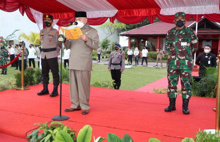 Dr. Ir. H. Isran Noor, M.Si, Bubernur Kaltim Pimpin Apel Gelar Pasukan Operasi Ketupat Mahakam 2021