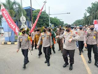 Kapolda Aceh & Rombongan Cek Langsung Pos Penyekatan Larangan Mudik Lebaran Tahun 2021 Di Perbatasan Aceh-Sumut
