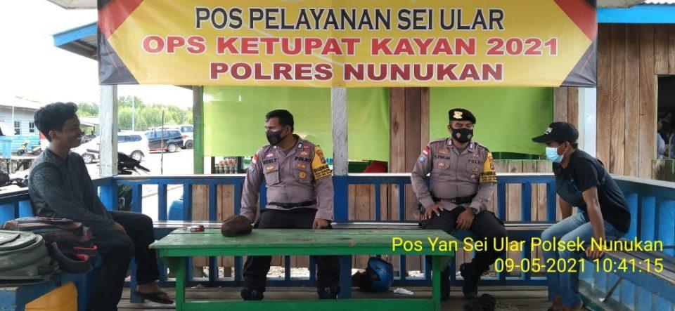 Operasi Ketupat Kayan 2021 Polres Nunukan & Polsek Jajaran Edukasi Warga Kepatuhan Prokes, Serta Larangan Mudik Lebaran