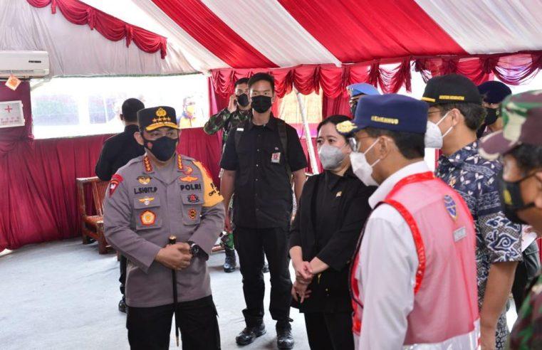 Bersama Panglima TNI Bersama Kapolri Tinjau Pos Penyekatan Merak-Bakauheni