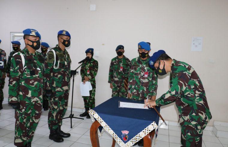 Danlanud Dhomber Kolonel Pnb Dedy Susanto, S.E, Memimpin Sertijab Komandan Satuan Polisi Militer (Dansatpom)