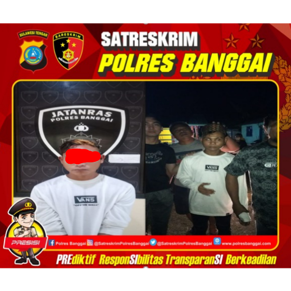 2 Tahun 7 Bulan AL (20) Buron Akhirnya Diciduk Tim Buser Polres Banggai di Desa Jaya Bakti Kecamatan Pagimana