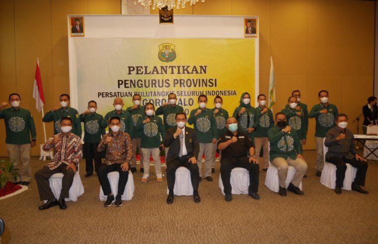 Kapolda Irjen Pol. Dr. Akhmad Wiyagus, SIK., M.Si., M.M, Hadiri Pelantikan Pengurus PBSI Provinsi Gorontalo