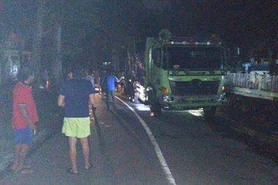 Tragis, Tabrakan Tronton VS Sepeda Motor di Danowudu Bitung 4 Nyawa Pemuda Ranowulu Melayang