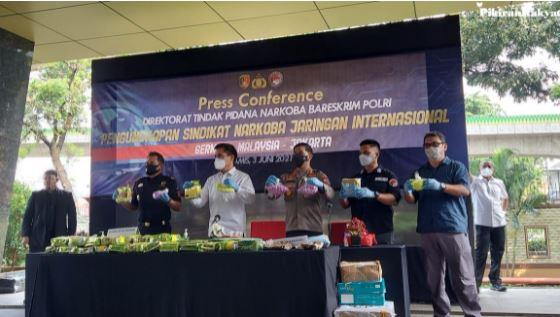 Direktorat Narkoba Bareskrim Polri Gagalkan Penyelundupan Narkoba Jaringan Internasional