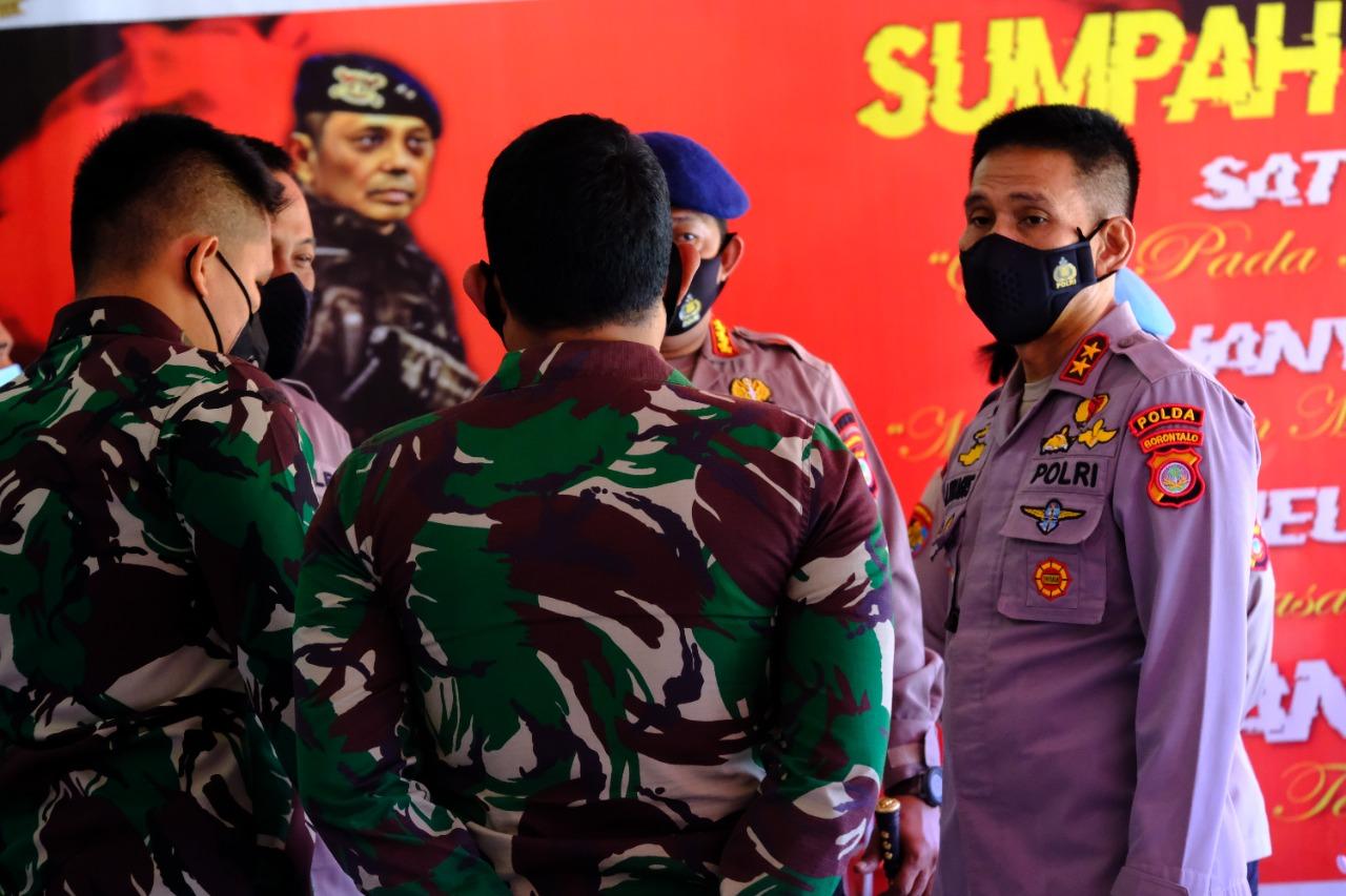 Kapolda Gorontalo Pantau Pelaksanaan Vaksin di Ditlantas & Satbrimob